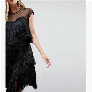 ASOS Dresses - ASOS black fringe flapper dress